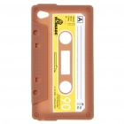 Unique Protective Retro Cassette Tape Silicon Case for iPod Touch 4 - Coffee
