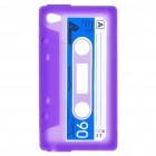 Unique Protective Retro Cassette Tape Silicon Case for iPod Touch 4 - Purple