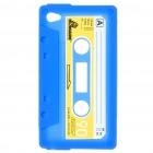 Unique Protective Retro Cassette Tape Silicon Case for iPod Touch 4 - Blue