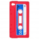 Unique Protective Retro Cassette Tape Silicon Case for iPod Touch 4 - Red