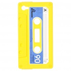 Unique Protective Retro Cassette Tape Silicon Case for iPhone 4 - Yellow