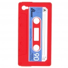 Unique Protective Retro Cassette Tape Silicon Case for iPhone 4 - Red