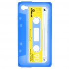 Unique Protective Retro Cassette Tape Silicon Case for iPhone 4 - Blue
