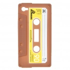Unique Protective Retro Cassette Tape Silicon Case for iPhone 4 - Coffee