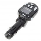 "1.1"" LCD Car MP3 Player FM Transmitter with IR Remote Controller - Black + Silver (SD/USB/2.5mm)"