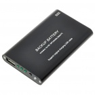 2000mAh Emergency Power Rechargeable Battery Pack with USB Port (Black)