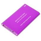 2000mAh Emergency Power Rechargeable Battery Pack with USB Port (Purple)