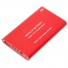 2000mAh Emergency Power Rechargeable Battery Pack with USB Port (Red)
