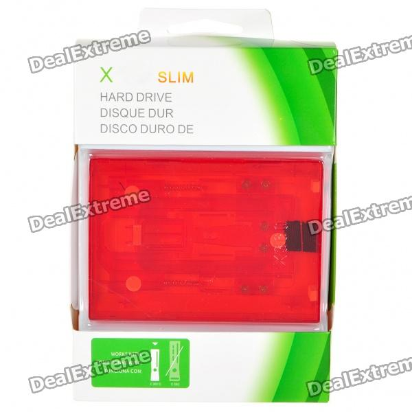 все цены на Internal Hard Drive Disk Case for Xbox 360 Slim - Translucent Red онлайн