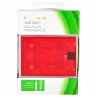 Internal Hard Drive Disk Case for Xbox 360 Slim - Translucent Red