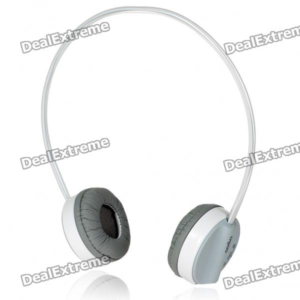 Rapoo H6000 2.4GHz USB Rechargeable Bluetooth V2.1+EDR Wireless Headphone with Microphone (Grey)