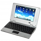 "7.0"" TFT LCD Android 1.6 VIA8505 CPU WiFi UMPC Netbook - Black (300MHz/2GB/3-USB/SD/LAN)"