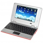 "7.0 ""TFT LCD Android 1.6 VIA8505 CPU WiFi UMPC Netbook - Rot (300MHz/2GB/3-USB/SD/LAN)"