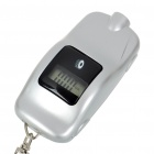 "Mini Car Shaped 0.6"" LCD Digital Tire Pressure Gauge Keychain - Silver (1*CR2032)"