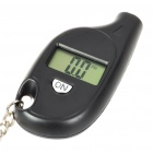 "Compact 0.6"" LCD Digital Tire Pressure Gauge Keychain - Black (1*CR2032)"