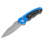 Stainless Steel Manual-Release Folding Knife with Carabiner Clip and Pouch (19.7cm Full-Length)