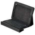 76-Key Wireless Bluetooth Keyboard With Folding Leather Case for Ipad/Ipad 2 (Black)