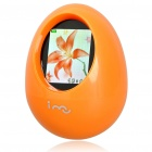 "i-mu Cute Tumbler Style 1.8"" TFT LCD Desktop Digital Photo Frame - Orange"