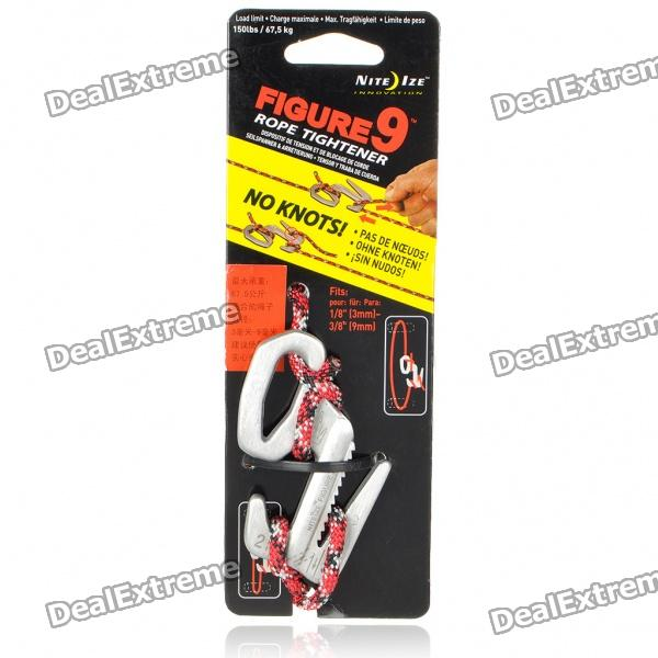 Nite Ize F9L-03-09 Aluminum Alloy Figure 9 Rope Tightened with Rope