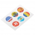 National Flag Style Home Button Sticker for Iphone 4/3GS/Ipad/Ipod Touch (US+More/6-Piece)