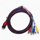 HDMI Male to 5 RCA RGB Audio Video AV Component Cable (1.5M-Length)