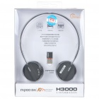 Genuine Rapoo H3000 2.4GHz Wireless Headphone with Microphone & USB Receiver - Black