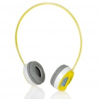 Genuine Rapoo H3000 2.4GHz Wireless Headphone with Microphone & USB Receiver - Yellow