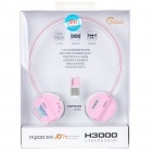 Genuine Rapoo H3000 2.4GHz Wireless Headphone with Microphone & USB Receiver - Pink