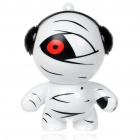 Cute Mummy Shaped USB Rechargeable MP3 Music Speaker - Black + White