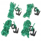Plastic Mini Figure 9 Rope Tightener Tool Hooks with Ropes Set (4-Pack)