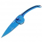 Mini Stainless Steel Manual-Release Folding Knife - Blue (15.8cm Full-Length)