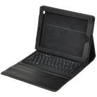 Bluetooth 2.0 Wireless 76-Key Keyboard with Protective PU Leather Case for Apple iPad 2 - Black