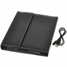 Bluetooth 2.0 Wireless 76-Key Keyboard with Protective PU Leather Case for   Ipad 2 - Black