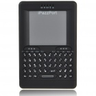 Mini Handheld 2.4GHz Rechargeable Wireless Keyboard with TrackPad - Black