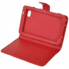 Protective PU Leather Case for Samsung P1000 - Red