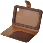 Protective PU Leather Case for Samsung P1000 - Coffee