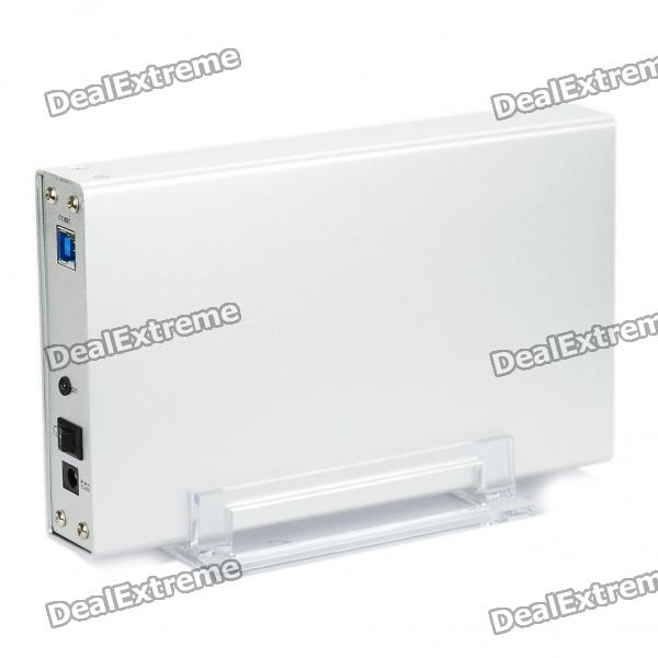 "USB 2.0 3.5"" SATA eu / II HDD Enclosure com Stand titular (Super Speed 5Gbps)"