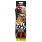 Nite Ize 2-Mode Light Up Red LED Light Dog Collar - Red (1 x CR2032/Size-L)