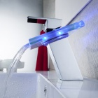 LED Color Changing Waterfall Faucet