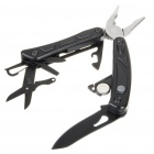 Stainless Steel Pocket Folding Pliers + Screwdriver + Knife + LED Flashlight Toolkit