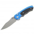 Fashion Folding Pocket Knife with Cleaning Cloth - Blue + Black