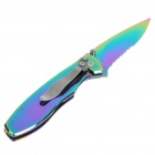 Stainless Steel Manual-Release Folding Knife with Clip - Fairy (17.1cm Full-Length)