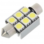 36mm 2.5W 6-SMD LED 250-Lumen 7000K White Dome Light (DC 12V)