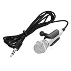 Unique Ultra-Mini Microphone with Stand Holder for PC/Laptop (3.5mm Jack/1.92M-Cable)