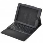Bluetooth 2.0 Wireless 84-Key Keyboard with Protective PU Leather Case for iPad - Black