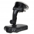720P Wide Angle Digital Car DVR Camcorder w/ 4-IR LED Night Vision/SD/AV - Black (2.5