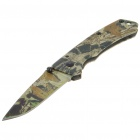 Stainless Steel Manual-Release Folding Knife with Clip - Stealth Jet (15.2cm Full-Length)