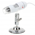 Portable USB 2.0 25X-400X CMOS Digital Microscope with 8-LED Illumination - White