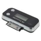"Compact 0.6"" LCD FM Transmitter with IR Remote + Car Charger for iPhone/iPod Series (DC 12~24V)"
