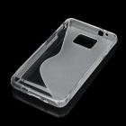 Protective Rubber Gel Silicone Back Case for i9100 Galaxy S2 - Translucent